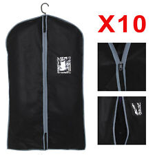 10x Breathable Quality Garment Suit Covers Clothes Dress Carrier Bag Zipper