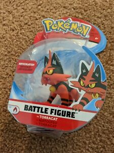 Wicked Cool Toys Pokemon Battle Figure Torracat