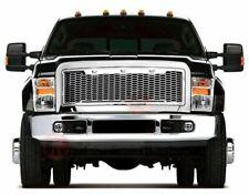 11-16 Ford F250 F350 Raptor Style Mesh Grille Chrome w/ Led Lights