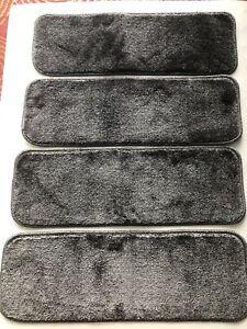 "Non Slip Carpet Stair 13 Treads/Mats  26"" x 9"" Charcoal/Gray,New"