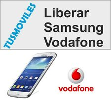 Liberar Samsung Vodafone Todos los modelos del mercado RÁPIDO