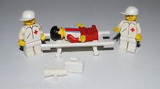 LEGO® Arzt Krankenpfleger Trage Patient Figur Set Krankenhaus Rote Kreuz  #6606