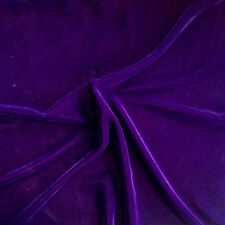"Velvet Purple Plush Triple Fabric Drapery clothing soft solid 45"" wide per yard"