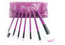 7 un. Set Purple London orgullo Pincel-Maquillaje Cepillos + Silicona Maquillaje Puff claro