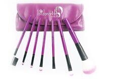 London Pride 7pcs Purple Set Brush - Make-up brushes+Silicone Make-up Puff Clear