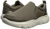 Skechers Mens Evolution Low Top Slip On Fashion Sneakers, Khaki, Size 10.5 h9Mn