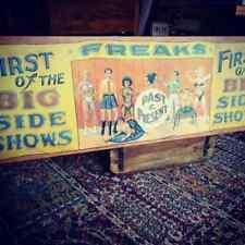 Fairground Circus Carnival Freakshow Sign