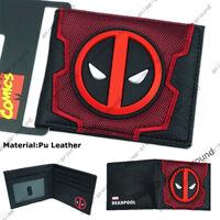 Deadpool Wallet Short Bifold Purse Marvel Comics High Quality 3D LOGO Gift New
