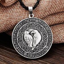 Norse Vikings Valknut Raven Rune Knot Viking Amulet Pendant Necklace Talisman