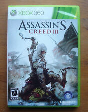 ASSASSIN'S CREED III 3 MICROSOFT XBOX 360 GAME DISCS AND CASE ~TESTED~