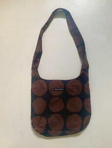 MARIMEKKO SHOULDER BAG Handbag COTTON FINLAND Kivet Pienet Brown Black Pattern