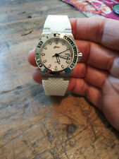 Belair A9430 Swiss Ronda 785 Stainless Steel Ladies 200 Meter Diver Watch Nice!!