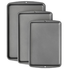 3-Piece Wilton Bake It Better Non-Stick Baking Pan Set, Dishwasher Safe