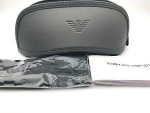 New Emporio Armani Eyeglass Sunglass case Gray Grey Sunglasses Eyeglasses cloth