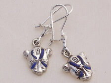 Sekhmet .925 Silver Earrings (inlaid with Lapis Lazuli) (Hallmarked)