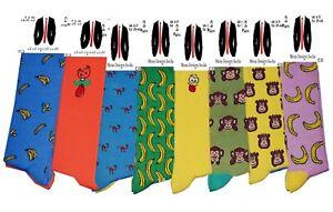 12 Pairs Men's Novelty Socks Cartoon Face Funky Cool Fancy Crazy Design UK 6-11