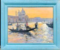 1950s Italian Impressionist Oil painting of Venice - Antoine BOUVARD 1870-1956