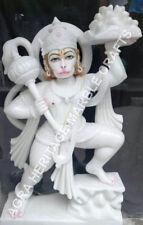 "30"" Buy Marble Hanuman Lord Statue Online Handmade Art Deocative Hallway E738"