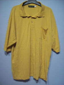 Top Mens Polo Shirt by Bonart Menswear Ocre Size 3XL