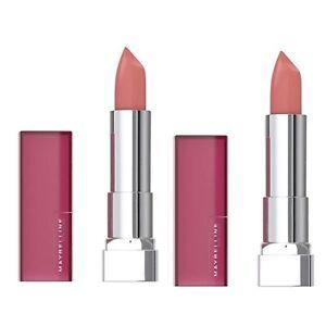 Maybelline Color Sensational Creamy Matte Lipstick HONEY PINK #550 Lot Of 2