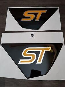 FIESTA ST/ST180 MK7/MK7.5 REAR SPOILER GLOSS BLACK GEL BADGES CHROME/YELLOW