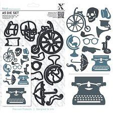 Docrafts Xcut A5 vintage icônes machine à écrire téléphone moustache crâne découper Set