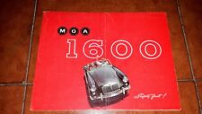 BROCHURE DEPLIANT ADVERTISEMENT MG MGA 1600  ENGLISH 1959