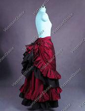 Victorian Edwardian Bustle Walking Skirt Theater Vampire Halloween Costume K034