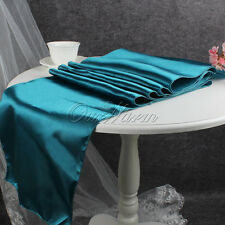 "1/5/10/20pcs Satin Table Runner Wedding Party Banquet Xmas Venue Decor 12""x108"""