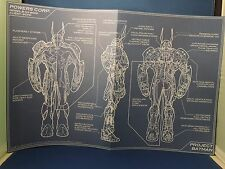 New Project Batman Batsuit Blue Prints Set 6 Promo Posters Powers Corp. DC Comic