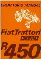 FIAT TRACTOR R450, SPECIAL, VINEYARD & DT OPERATORS MANUAL