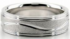 10K WHITE GOLD MENS WEDDING BANDS,SOLID GOLD 6.5MM MENS WEDDING RINGS
