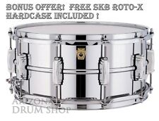 LUDWIG 6.5 x 14 Supraphonic Snare Drum LM402 w/New P88 and FREE SKB ROTO-X Case!