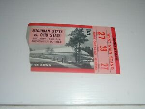Michigan State vs Ohio State Nov 9 1974 Stub