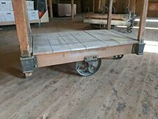 Lineberry Factory Cart Coffee Table Railroad Furniture Truck We Ship