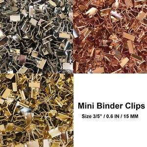 """Mini Binder Clips Mix Colored 5/8"""" Paper Clamp, 0.6 IN Size, 40-120 Per a Bag"""