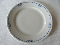 Buffalo China 1917 Princeton-Blue & White Design-Luncheon Plate(s)-Up to 9 Avail