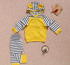 Newborn Baby Boy/Girls Striped Hooded Outfits Set Clothes Tops + Pants Tracksuit