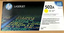 Sealed New HP 502A Print Cartridge - Q6472A - Yellow - For HP LaserJet 3600