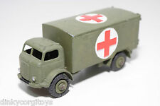 DINKY TOYS 626 BEDFORD MILITARY AMBULANCE ARMY GREEN EXCELLENT CONDITION REPAINT
