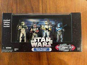 Hasbro Star Wars Trilogy Clone Trooper Builder 4-Pack Color Clean EE 2005