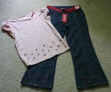 Gymboree Cherry Pie Girls Size 8 9 Jeans Shirt Top Outfit Set
