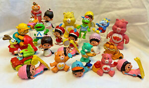 1970s-80s PVC Toy Lot Cake Toppers Party Care Bears Jim Henson Monchhichi Kermit