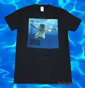 New Nirvana Nevermind Baby 1991 Album Cover Grunge Black Vintage T-Shirt