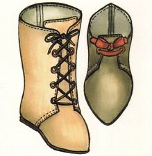 DOLL Sewing pattern Antique Boot shoe   In 9 different sizes  msd sd bjd 1561