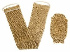 100% Natural Exfoliating Hemp Back Scrubber, Bath and Shower Body Brush with
