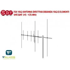 FOX YAGI ANTENNA DIRETTIVA BIBANDA YAGI 8 ELEMENTI VHF/UHF 145 - 435 MHz