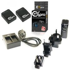 Ex-Pro AHDBT-301 Mini USB Twin & wall Charger & 2 Batteries for GoPro Hero3 3+