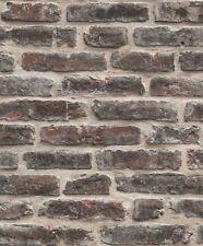 DecorPassion 3D Red Brick Effect Textured Vinyl Wallpaper (J34408)