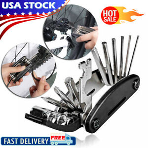 15 in 1 Professional Multifunction Bike Bicycle Cycling Mechanic Repair Tool Kit
